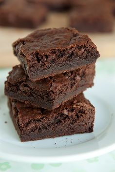 chewy brownies recipe | use real butter