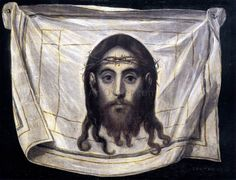 El Greco The Veil of St Veronica hand painted oil painting reproduction on canvas by artist Veil Of Veronica, St Veronica, Verona, Religion, Jesus Face, Canvas Paper, Oil Painting Reproductions, Art Institute Of Chicago, Prado