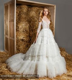 zuhair murad tulle skirt wedding dress