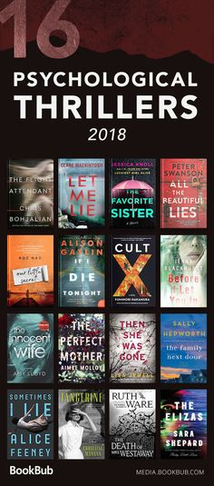This dark reading list is filled with twists, turns, and unexpected serial killers. Perfect for fans of Gone Girl and Girl on the Train!