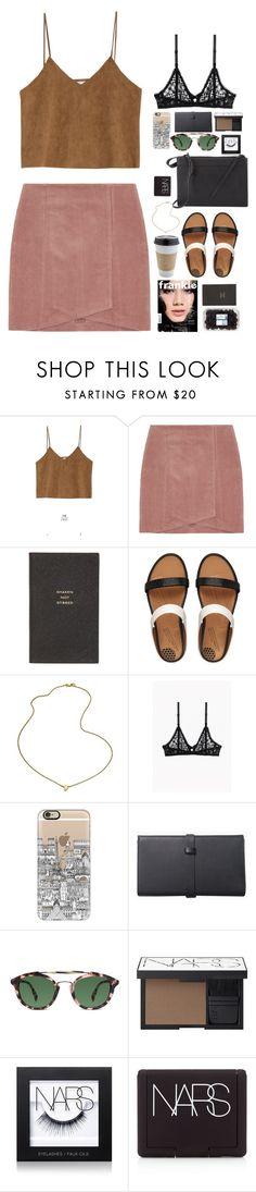 """Untitled #2691"" by wtf-towear ❤ liked on Polyvore featuring moda, Goroke, OUTRAGE, Smythson, FitFlop, Jennifer Zeuner, Casetify, Warby Parker, NARS Cosmetics e 3.1 Phillip Lim"
