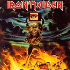 "Iron Maiden ""Holy Smoke"" EMI 12EMP 153 12"" Vinyl Single UK Pressing (1990) Cover Art by Derek Riggs"
