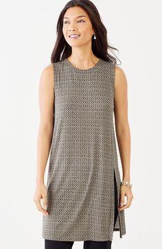 Wearever sleeveless print tunic