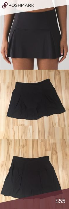 NEW Lululemon lost in pace skirt New without tags Lululemon Lost in Pace skirt in black. Built in shorts with side pockets big enough to fit an iPhone plus and grips on inside so they won't ride up. Soft and lightweight skirt overlay. Very flattering and cute! Dress it up or hit the gym. Brand new, purchased at the lulu in Boston but I got the wrong size and cant return it now. Rip tag still attached! Size is 6 Tall! I might still have the actual tag for it as well. lululemon athletica…