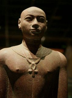 Statue of Prince Horemakhet (701-690 B.C.).Son of King Shabaka and High Priest of Amun in Thebes during the reign of his father and his two successors. •Nubia Museum,Aswan,Egypt•