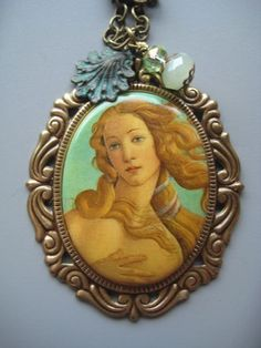SALE Birth of Venus Cameo Necklace by SilverTrumpet on Etsy, $30.00