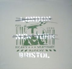 In Stock: Banksy: London - New York - Bristol 2000 Medium: Spray paint on canvas Size: 53,5x56cm - framed - Gallery Ministry of Walls - www.ministryofwalls.com #miami #scope