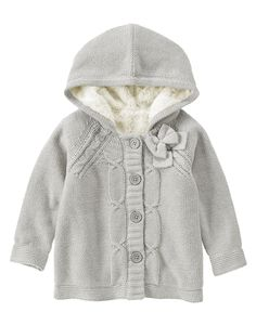 Hooded Cable Cardigan at Crazy 8