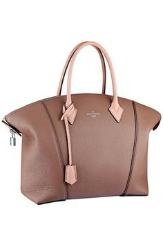 ca1bc1fe51ab Louis Vuitton Light Brown/Pink Soft Lockit Tote Bag Spring 2015 - LV  Pochette - Latest and trending LV Pochette.