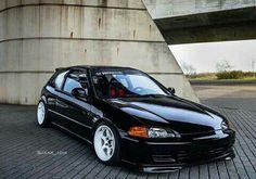 Clean little eg Honda Civic 1995, Black Honda Civic, Honda Civic Hatchback, Honda Crx, Tuner Cars, Jdm Cars, Subaru, Civic Jdm, Civic Coupe