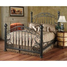 The Chesapeake Poster Bed by Hillsdale Furniture. The Chesapeake Poster Bed by Hillsdale Furniture. The Chesapeake Poster Bed by Hillsdale Iron Furniture, Bedroom Furniture Sets, Bedroom Sets, Bedroom Decor, Gold Bedroom, Tuscan Bedroom, Master Bedroom, Furniture Stores, Gothic Bedroom