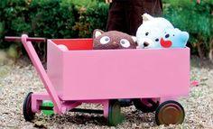 Faire soi-même un chariot en bois à tirer pour les jeux d'enfants