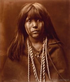 Mosa - Face Front, Mohave Indian photographed by Edward Curtis in…