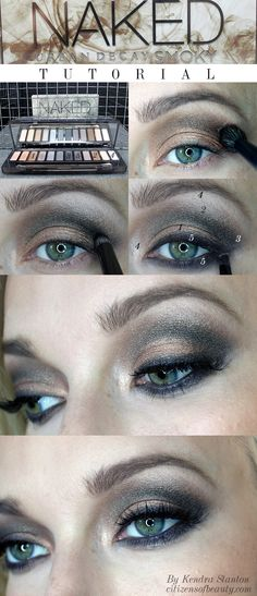 Urban Decay Naked Smoky Palette Swatches, and Makeup Look - Citizens of Beauty