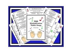 This is a six-page freebie on TeachersPayTeachers.com. I have found over my years of teaching experience that teaching the multiplication tables in song has definitely minimized the time and effort it normally takes a class full of students to learn the multiplication tables. I trust you will find it as effective as I have. Enjoy this freebie on TeachersPayTeachers!