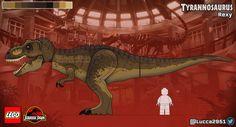 Lego Jurassic Park, Jurassic Park World, Legos, Lego Dinosaur, Godzilla Figures, Lego Creative, Falling Kingdoms, Lego House, Tyrannosaurus Rex