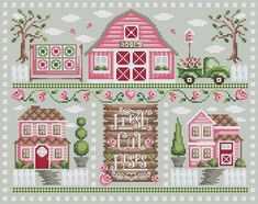 Shannon Christine Designs Cross Stitch Charts: Rose Farm--Multiple Charts, Buy Together or Individually--Vintage Pickup Truck! Counted Cross Stitch Kits, Cross Stitch Charts, Cross Stitch Designs, Cross Stitch Patterns, Loom Patterns, Cross Stitching, Cross Stitch Embroidery, Embroidery Patterns, Hand Embroidery
