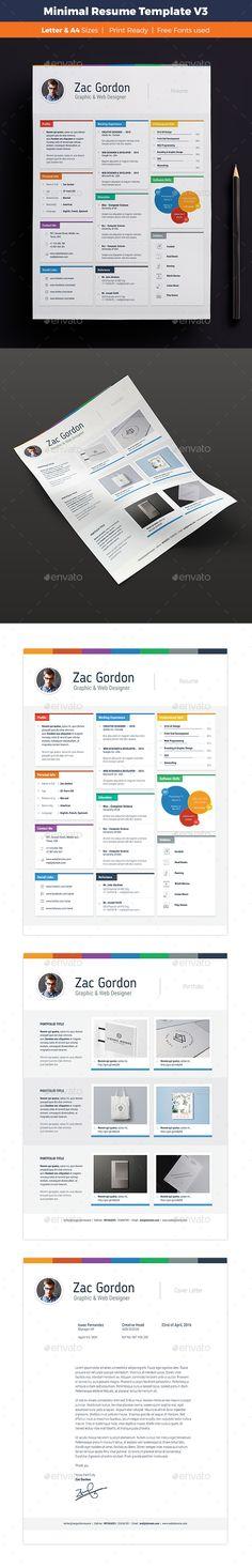 Minimal Resume Template Vector EPS, AI. Download here: http://graphicriver.net/item/minimal-resume-template-v3/15894932?ref=ksioks