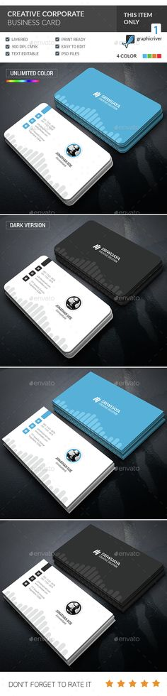 Creative Corporate Business Card Template PSD. Download here: http://graphicriver.net/item/creative-corporate-business-card-/15197327?ref=ksioks