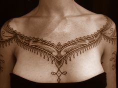 Maori and India inspired dotwork tattoo