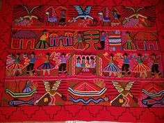 Wall Hanging Peru Tapestry Embroidered