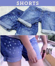 Recicla tus jeans viejos y hazlos shorts decorados! Te enseño cómo aquí en 1, 2 x 3!