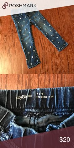 Baby Gap Jeggings Little girls' jeggings with sparkly polka dots! GAP Bottoms Jeans