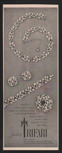 """1955 - TRIFARI - ADS - """"Holiday Collection"""" - Holiday ..."""