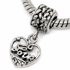 """ Heart with Love "" Dangle Silver Charm Bead Pandora Troll Chamilia Compatible  Order at http://www.amazon.com/Dangle-Silver-Pandora-Chamilia-Compatible/dp/B0087HT1DK/ref=zg_bs_3885701_27?tag=bestmacros-20"