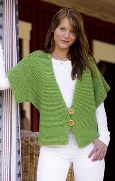 Yes, I know it's knitting, but I love the shaping of this vest. Crochet inspiration for sure.