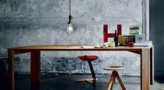 contemporary solid wood table ALBUM by Roberto Barbieri Zanotta Interior Design Blogs, Interior Styling, Interior Inspiration, Interior Decorating, Wood Furniture, Furniture Design, Solid Wood Table, Mid Century Design, Decoration