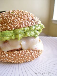 Chili Lime Turkey Burgers with Guacamole and Pepper Jack Cheese