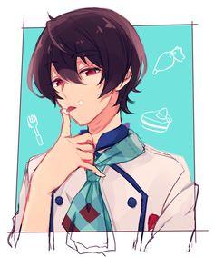 Ritsu | Ensemble Stars! Manga Cute, Cute Anime Boy, Manga Boy, Manga Anime, Anime Boys, Akatsuki, Boy Poses, Ensemble Stars, Boy Art