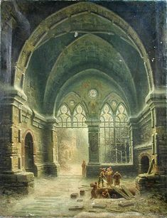 .Albert Bredow - View Of The Interior Of A Cathedral