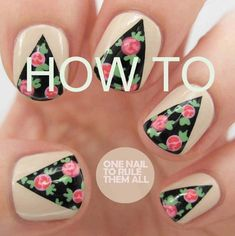 Rose Curtains | 29 DIY Nail Tutorials You Need To Try This Spring