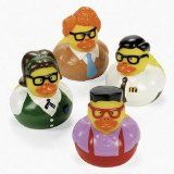 12 Nerd Rubber Duckies - maybe a duckie race with them?