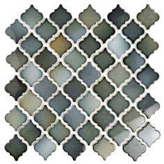 SomerTile 12.375x12.5-inch Antaeus Atlantis Porcelain Mosaic Floor and Wall Tile (10/Case, 10.96 sqf