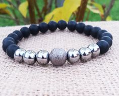 Check out this item in my Etsy shop https://www.etsy.com/uk/listing/255392238/mens-hematite-bracelet-men-onyx