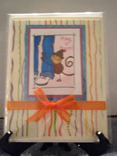 Hang In There Monkey card by llc1175@gmail.com