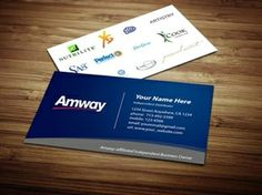 Amway Business Card Design 1