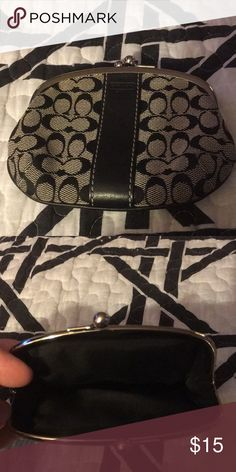 Coach coin purse Classic coach pattern coin purse Coach Bags Clutches & Wristlets