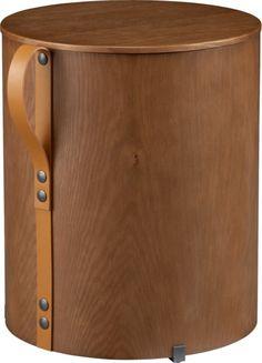 strap storage side table-stool  | CB2