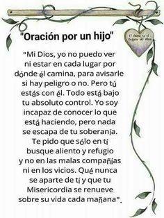 α JESUS NUESTRO SALVADOR Ω: ORACION POR UN HIJO, Señor Jesús yo no puedo ni…