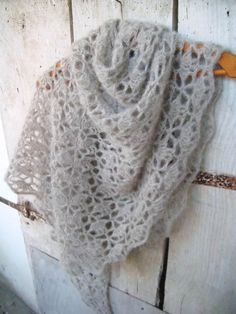 South Bay Shawlette - Drops Brushed Alpaca Silk - free pattern here: http://www.lionbrand.com/patterns/90489AD.html
