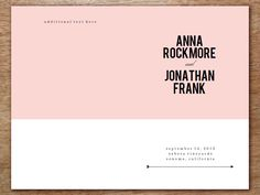 These pink and black modern, slightly preppy wedding programs will wow your guests. The wedding program template is beyond easy to use; just enter your text into the PDF, print and fold. Make as many as you want in just minutes.
