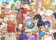 Fairy Tail at the beach pt. 1 || Art by rboz