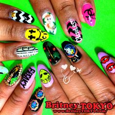 Mix Nail ArtbyBritney TOKYO☆ ✌ ✿ ✡ ✟ ☺ ✞ TOKYO meets Hollywood ✞ ☺ ✟ ✡ ✿✌