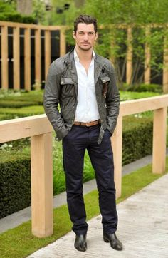 David Gandy at the Chelsea Flower Show