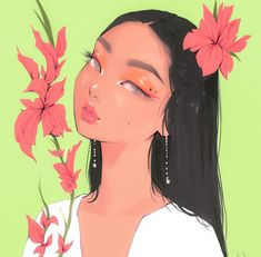 Cute Art Styles, Cartoon Art Styles, Desenhos Love, Posca Art, Cartoon Girl Drawing, Girl Cartoon, Arte Sketchbook, Digital Art Girl, Pretty Art