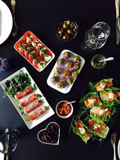 LCHF tapas or appetizers - no grains, not gluten, no sugar. Incredibly easy to make and so delicious. Check out the many ideas here:… Tapas Recipes, Real Food Recipes, Healthy Recipes, Tapas Ideas, Radish Recipes, Crab Recipes, Party Recipes, Food Film, Spanish Tapas